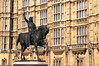 Richard I statue by Houses of Parliament London
