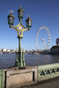 London Eye view from Westminster Bridge
