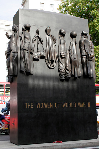 The Women of World War II memorial Whitehall London