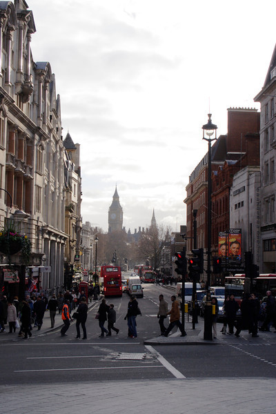 Street scene Whitehall towards Parliament Square London