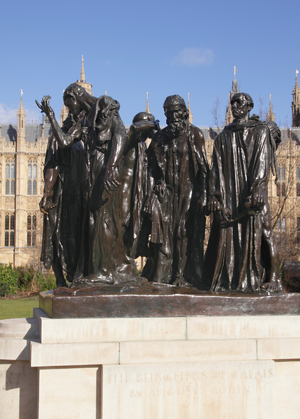 Burghers of Calais Statue Westminster London