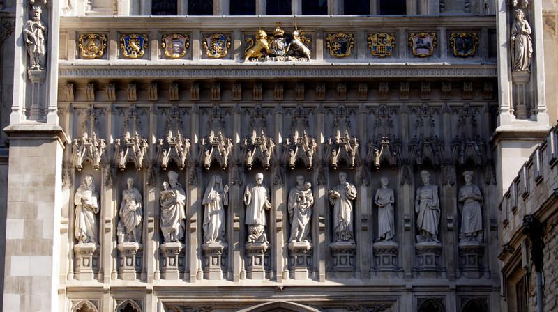 Closeup detail Westminster Abbey London