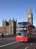 London double decker bus Westminster Bridge February 2012