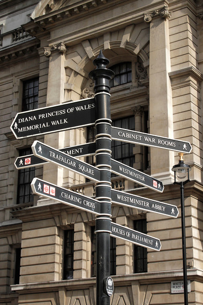 Street sign in Whitehall London