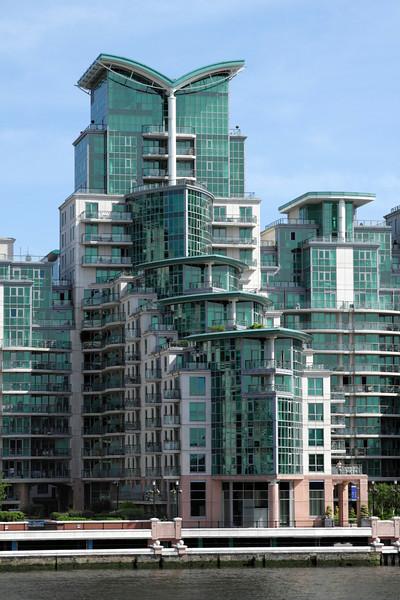 Modern apartments  St George's Wharf Vauxhall London