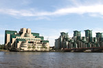 MI6 Building and St George's Wharf Vauxhall London