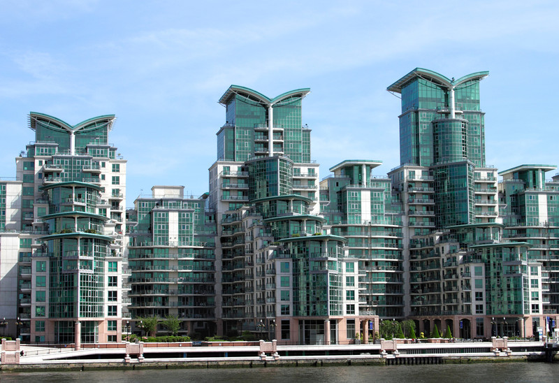Modern apartments  St George's Wharf Vauxhall London