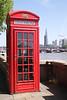 English red telephone box Victoria Embankment London