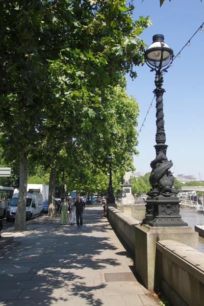 View along Victoria Embankment London