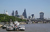 London city skyline view from Victoria Embankment