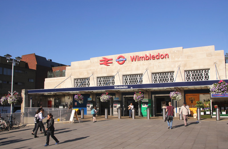 Wimbledon train and tube station London