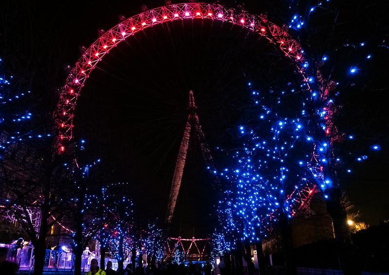 Christmas time, London Eye, 2015