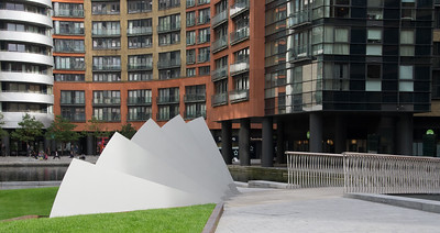 New wave bridge installation at Paddington Basin