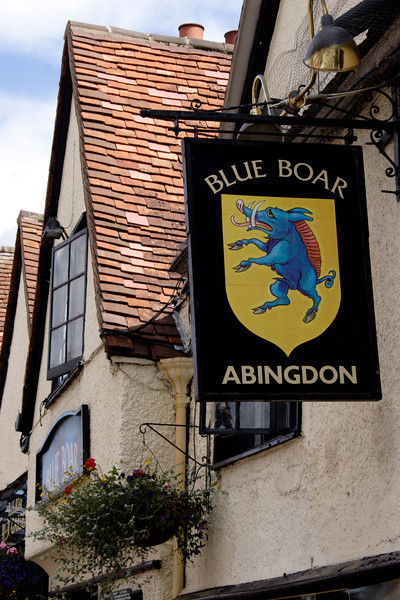 Blue Boar Pub sign Abingdon