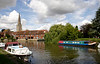 River Thames and St Helens Church spire at Abingdon Oxfordshire