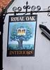 Royal Oak pub sign Watlington Oxfordshire