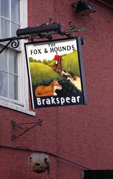 The Fox and Hounds Pub sign Watlington Oxfordshire