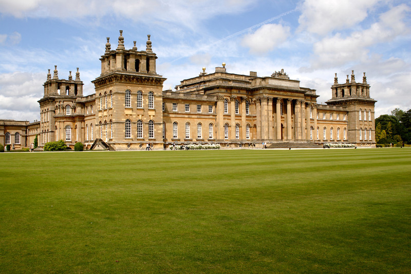 Blenheim Palace Oxfordshire view from South Lawn