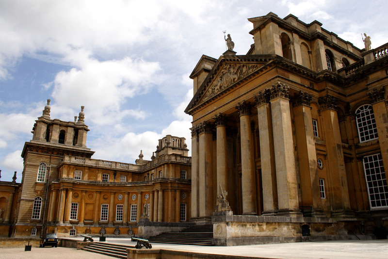 Facade of Blenheim Palace Oxfordshire
