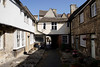 Terraced cottages in the medieval town of Burford Oxfordshire