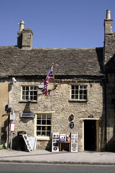 Bygones memorabilia shop Burford Oxfordshire