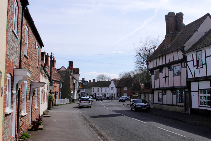 High Street Dorchester on Thames Oxfordshire