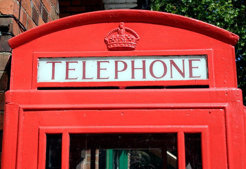 English public Telephone Box