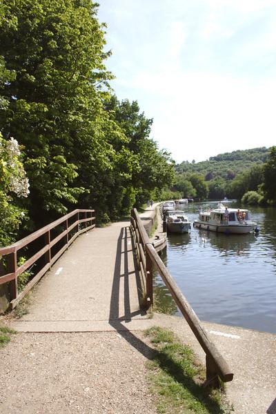 Footbridge by River Thames Goring Oxfordshire