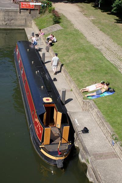 River scene at Goring Oxfordshire