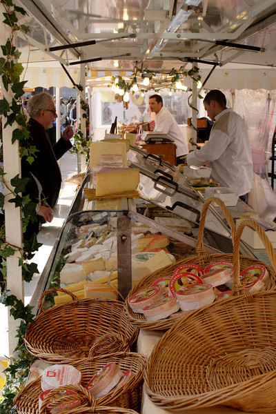 Cheese stall at Market Place Henley Oxfordshire