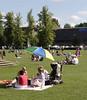 Family having a picnic at Henley