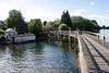 Wooden footbridge Henley Oxfordshire