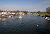 River Thames viewed from Henley bridge Oxfordshire