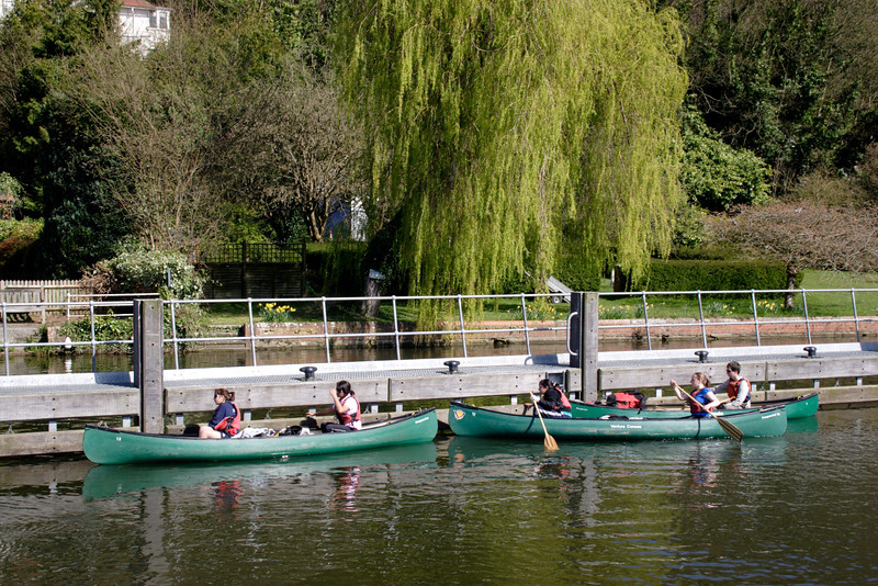 Canoes near Marsh Lock Henley