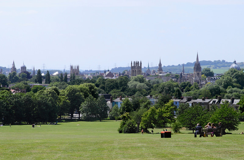Dreaming spires of Oxford viewed from South Park