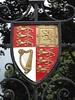 Coat of Arms on gate to Christchurch College Oxford
