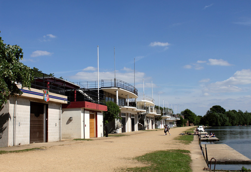 Boat Houses of Oxford University Rowing Club summer 2010