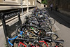 Parked bicycles Brasenose Lane Oxford June 2010
