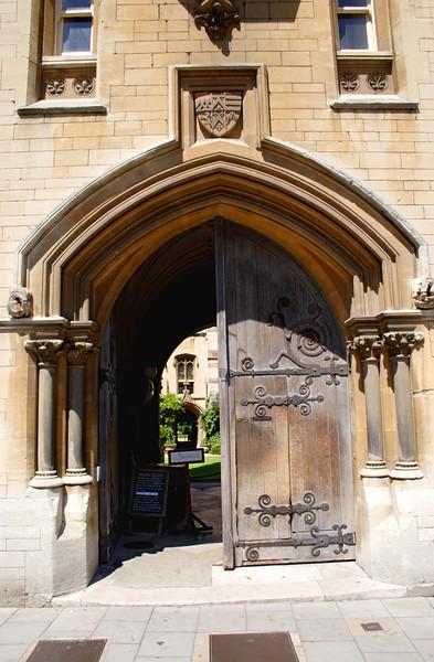 Entrance to Balliol College Oxford