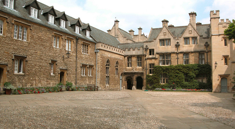 Courtyard of Merton College Oxford