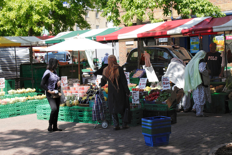 Gloucester Green Market Oxford June 2010