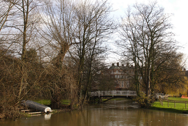 River Cherwell at Christ Church Meadow Oxford