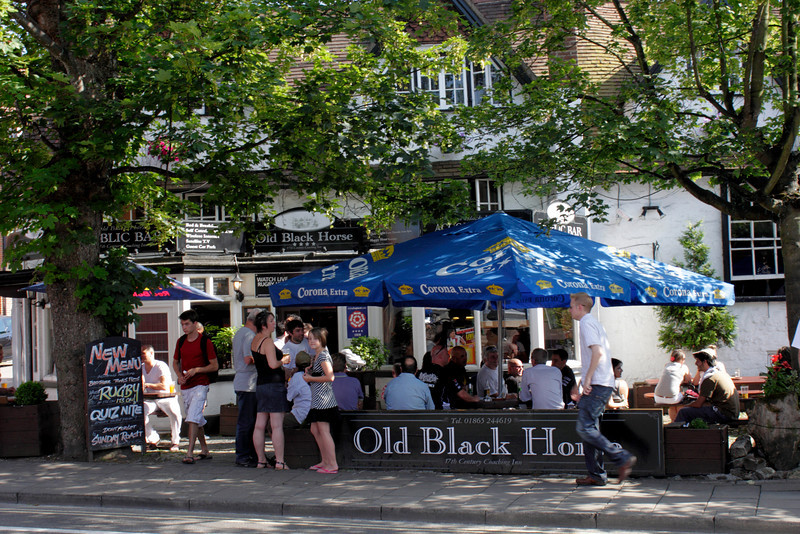 The Old Black Horse Pub St Clement's Street Oxford summer 2010