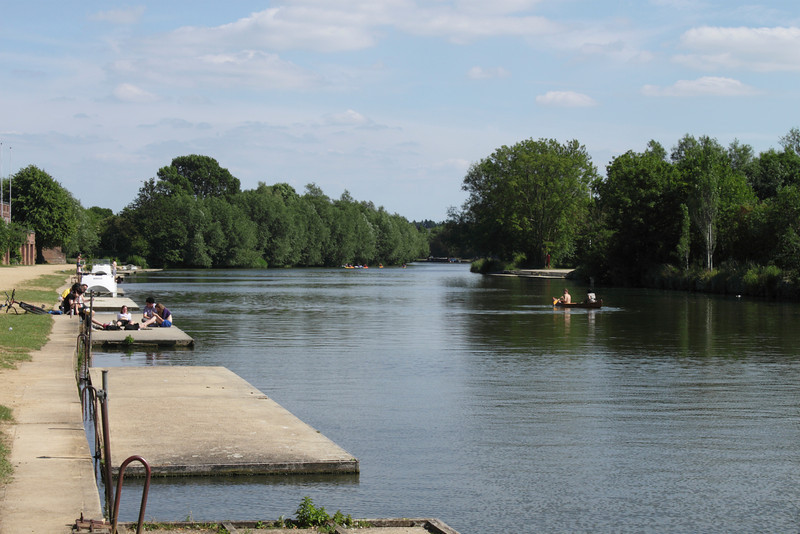 River Thames adjacent to Oxford University Rowing Club summer 2010