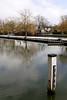 River Thames at Shiplake Lock Oxfordshire Winter 2009