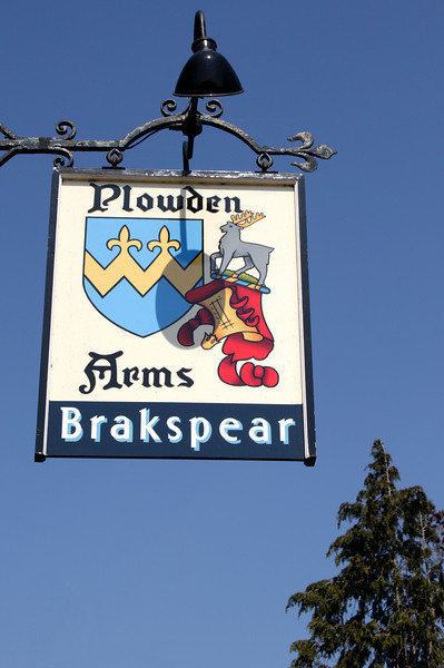 The Plowden Arms Pub sign Shiplake Oxfordshire