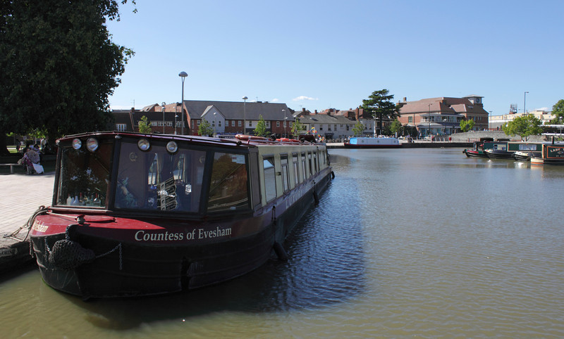 Houseboat moored at Bancroft Basin Stratford Upon Avon Warwickshire