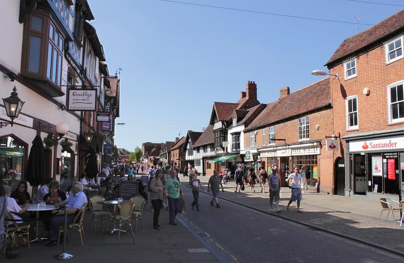 View along Henley Street Stratford Upon Avon Warwickshire
