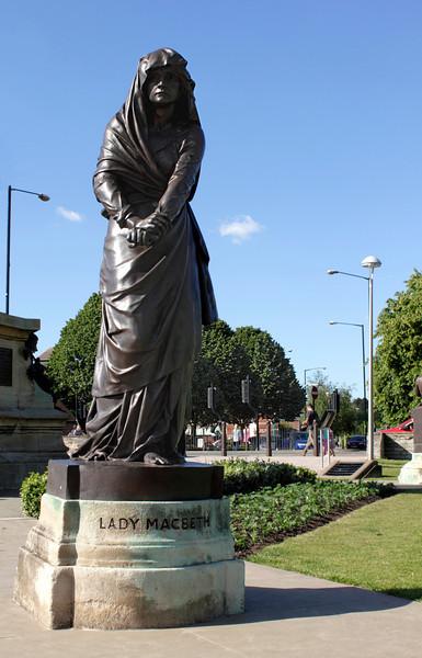 Statue of Lady Macbeth Stratford Upon Avon Warwickshire