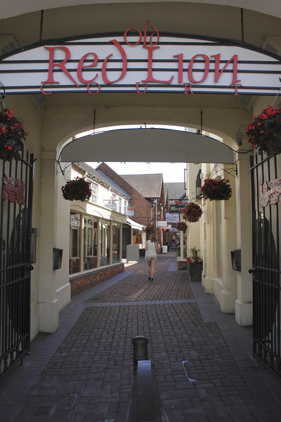 Old Red Lion Court shopping area Stratfod Upon Avon Warwickshire